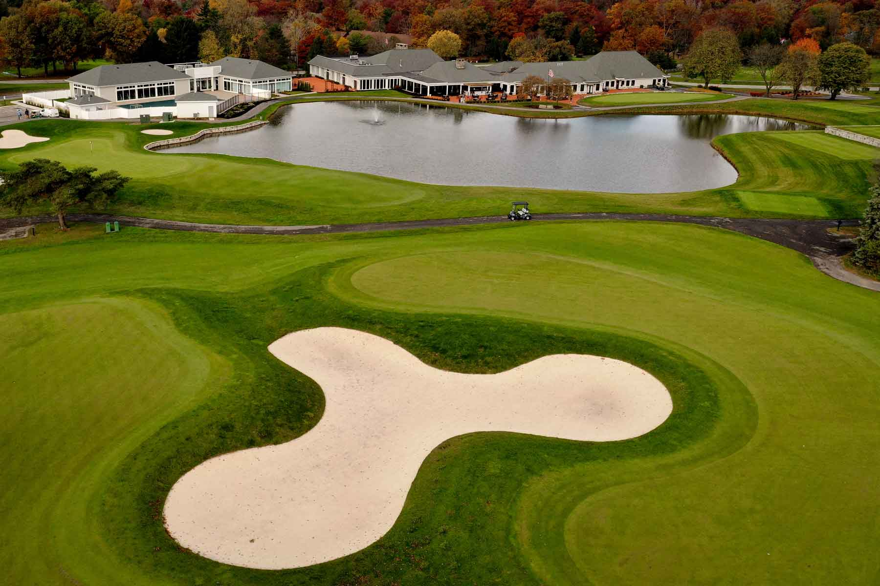 aerial view of the course